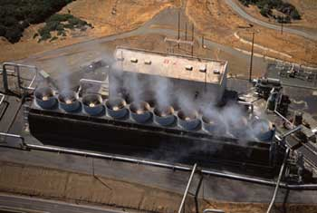 The Geysers geothermal plant in California