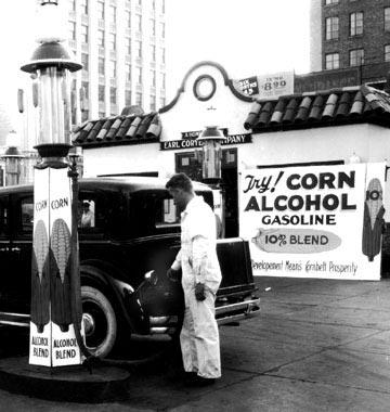 Pumping ethanol from corn in 1933