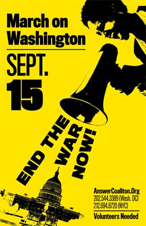 September 15. Stop the War. DC