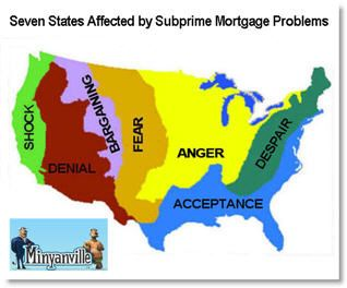seven states affected by subprime