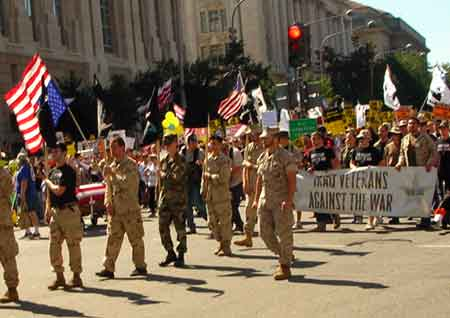 Iraq Veterans Against the War. March on DC. Sept 15 2007