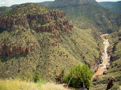 River into Salt Canyon AZ