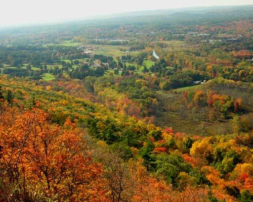 Fall foliage. near Heublein Tower, Talcott Mountain State Park