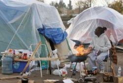 Tent city. Inland empire CA