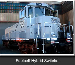 Fuel-cell hybrid Switcher locomotive. Vehicle Projects LLC