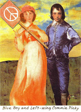 Blue Boy and Left Wing Commie. Carascissoria.com greeting card