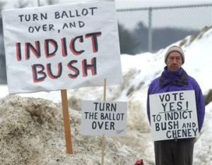 Indict Bush and Cheney. Vermont vote