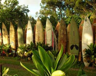 Surfboard fence, Maui