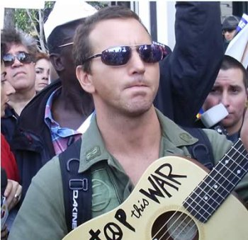 Eddie Vedder. antiwar protest. Los Angeles. Spring 2003