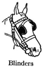horse-blinders