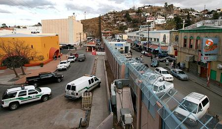 mexican american border at nogales