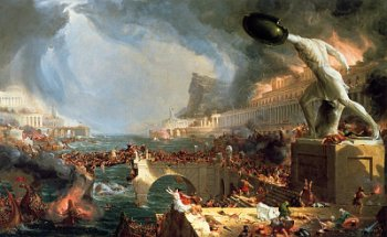 Thomas Cole:  The Course of the Empire (Destruction)