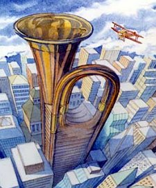 tooting horn