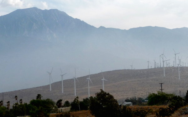 Wind turbines near Palm Springs
