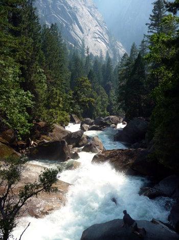 mist trail rapids. Yosemite