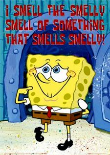 sponge bob smelly
