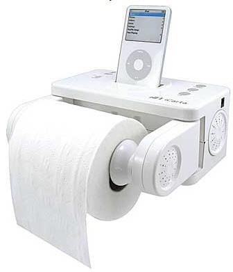 iPod toilet paper dock