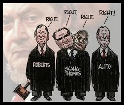 Roberts Scalia Thomas Alito Bork