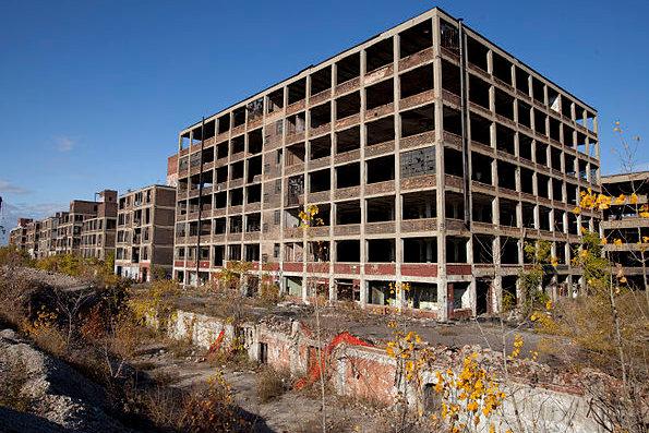 Abandoned Packard plant. Detroit
