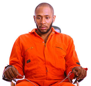 Yasiin Bey (formerly Mos Def) prior to undergoing force-feeding. He ended up screaming for them to stop. Photograph: Ben Ferguson, The Guardian