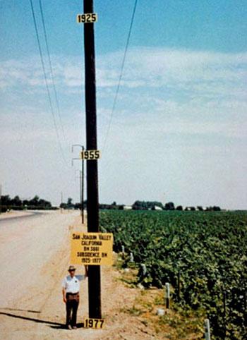 San Joaquin Valley subsidence, 1925-1977