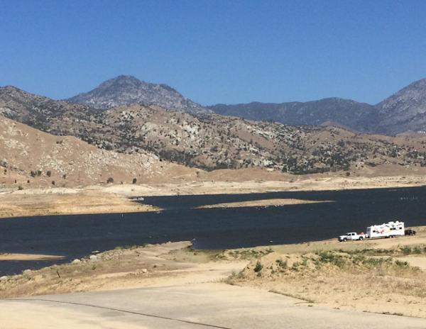 Lake Isabella water line is way below normal.
