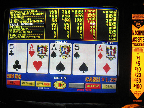 video poker photo