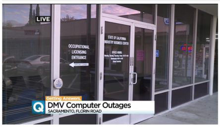 CA DMV computer outage