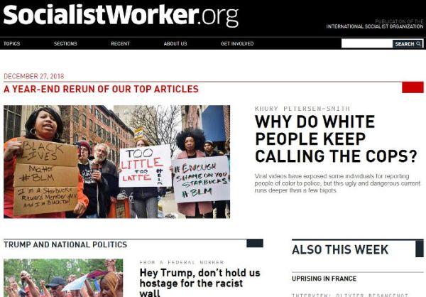 Socialist Worker. Dec 27, 2018