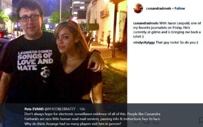 Jason Leopold. Cassandra Fairbanks. Twitter