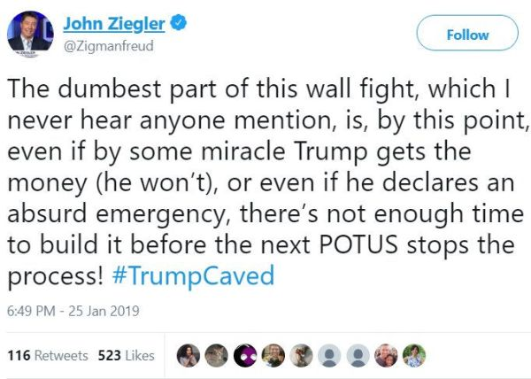 Trump caved on the border wall