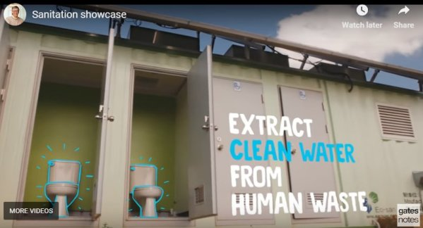 Reinvent the toilet video. Gates Foundation.