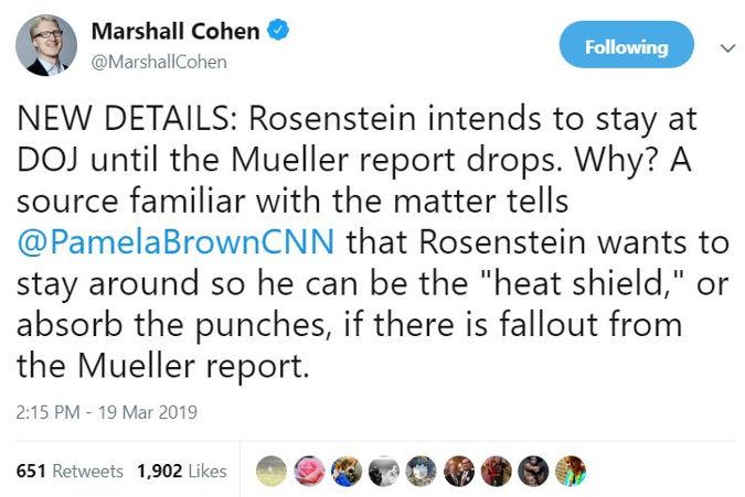 Rod Rosenstein staying