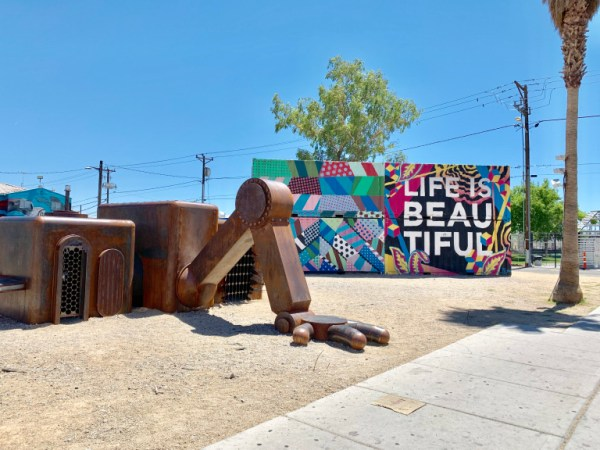 Life is Beautiful mural. Fremont Street
