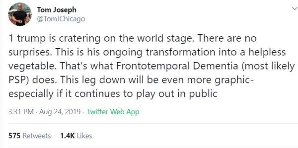 Trump. Frontotemporal Dementia