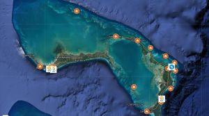 World Central Kitchen feeding locations. Bahamas