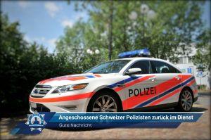 Gute Nachricht: Angeschossene Schweizer Polizisten zurück im Dienst