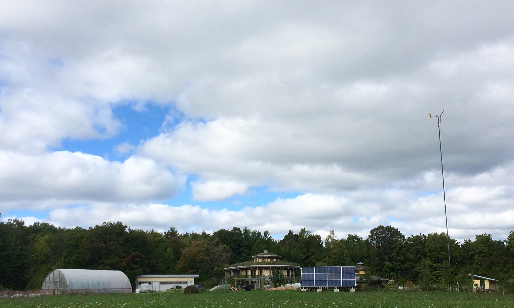 Off-grid Bruce Peninsula Polka Dot Hen Produce Birdsnest Garden Farm
