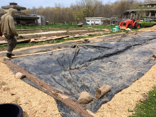 agricultural tarp for soil prep in no-till beds