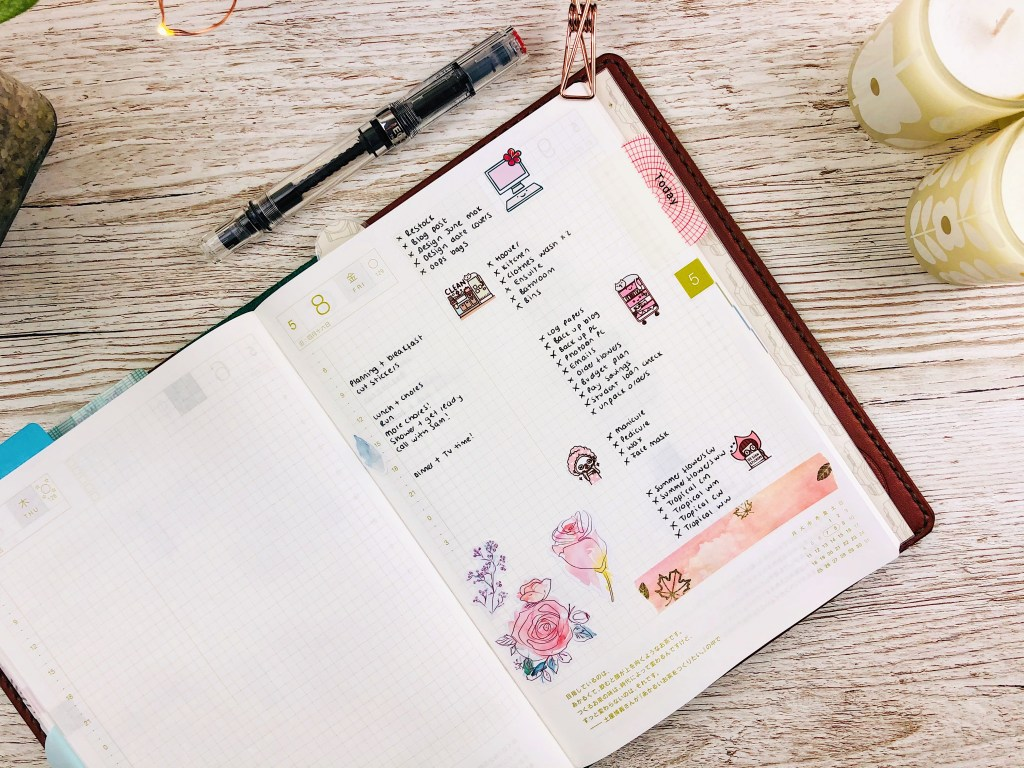 hobonichi cousin daily layout
