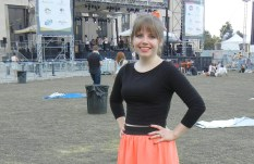 In front of LOTG stage