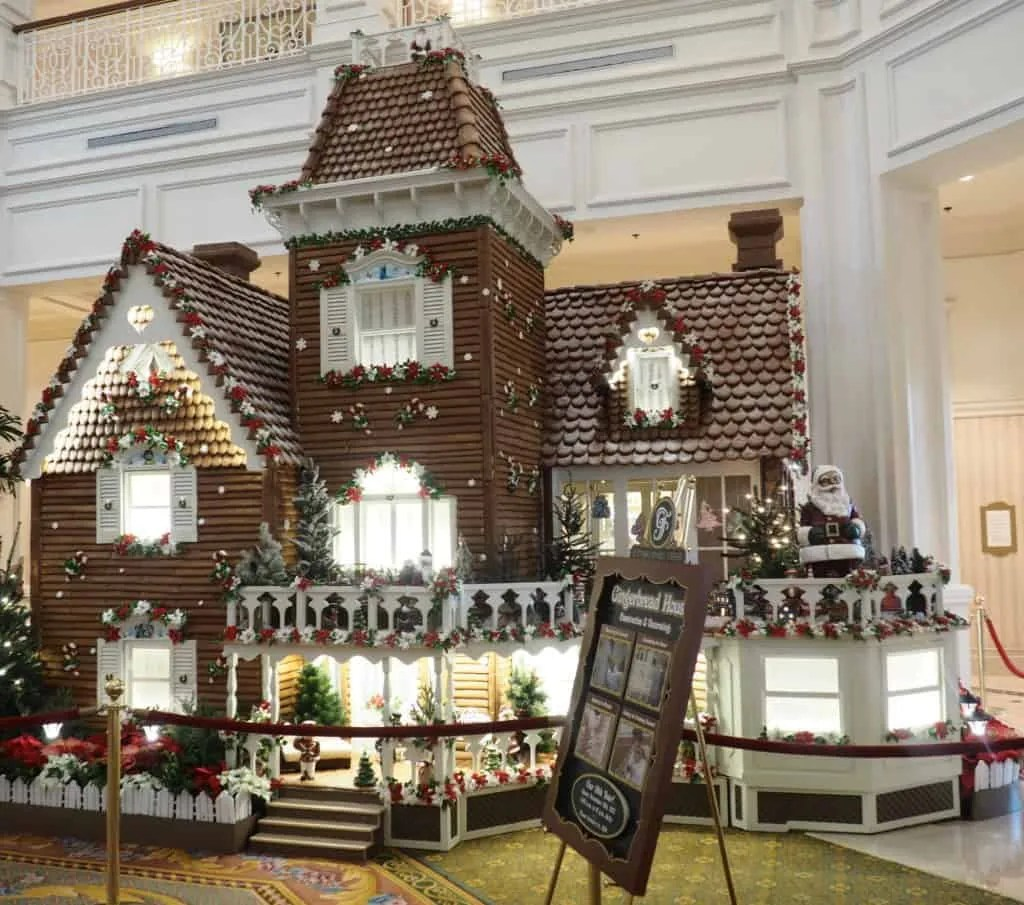 grand floridian gingerbread house walt disney world