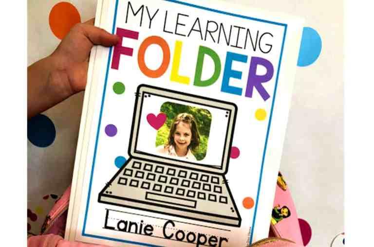 take home learning folder