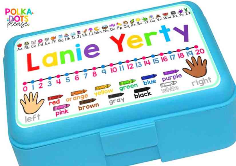 pencil box name tag