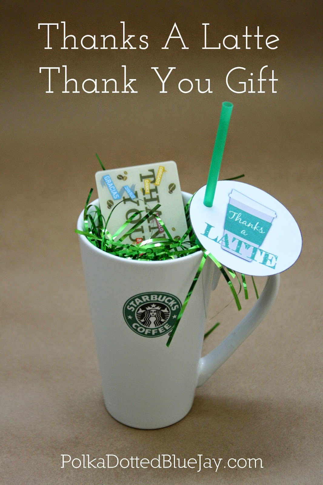 Thanks A Latte Thank You Gift Update Polka Dotted Blue Jay