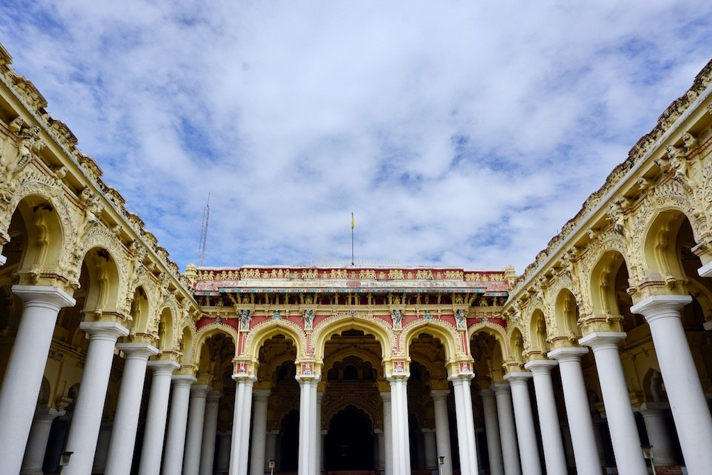 Thirumalai Nayakar Palace-A stunning heritage structure in Tamil Nadu,India