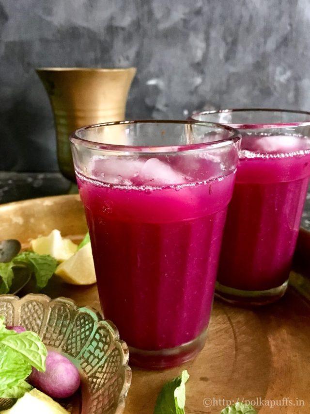 Indian Java Plum CoolerJamun ka panna recipe Polkapuffs recipes