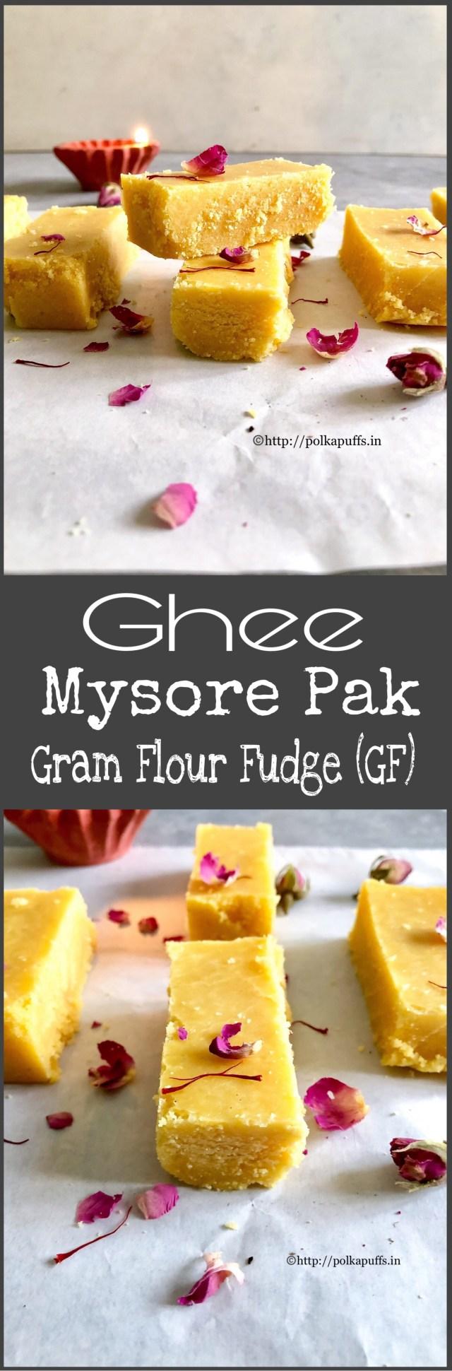 Ghee Mysore Pak | How to make Mysore Pak