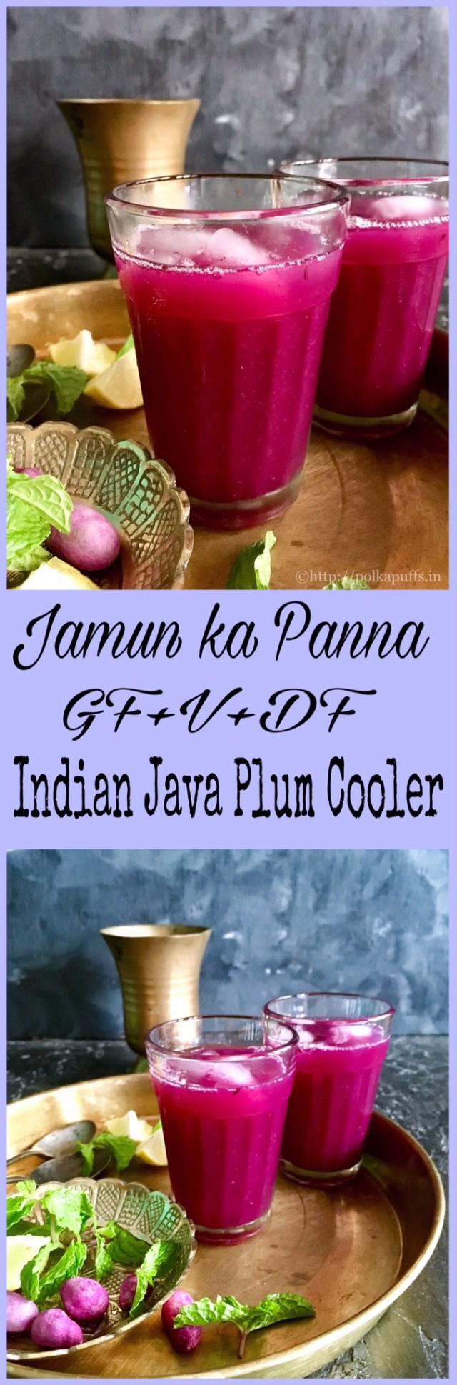 Indian Java Plum Cooler   Jamun ka Panna