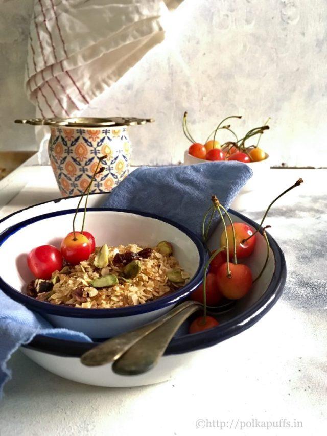 Chai Spiced Homemade Granola Vegan and GF